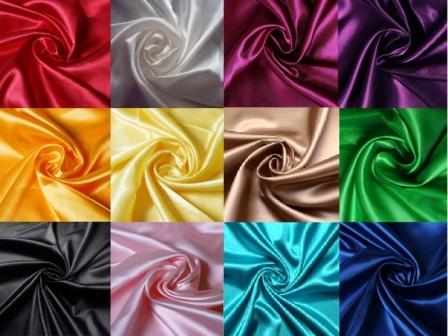 Купить однотонную атласную ткань в интернет магазине тканей Fashion G